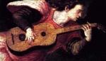 Ange et vihuela, XVIème siècle
