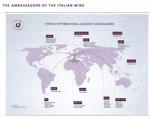 vinitaly VIA map of ambassadors