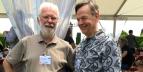 avec Prof. Hodgson à Haut-Sarpe